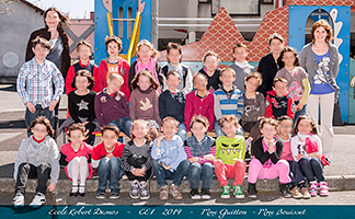 Photographies scolaires groupes 2014 / Ecole Robert Desnos